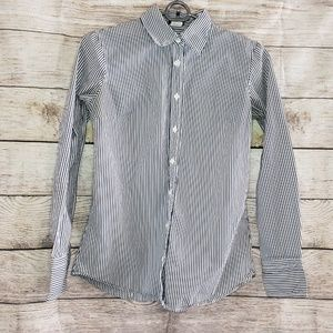 J.Crew Long Sleeved Stripped Button Down